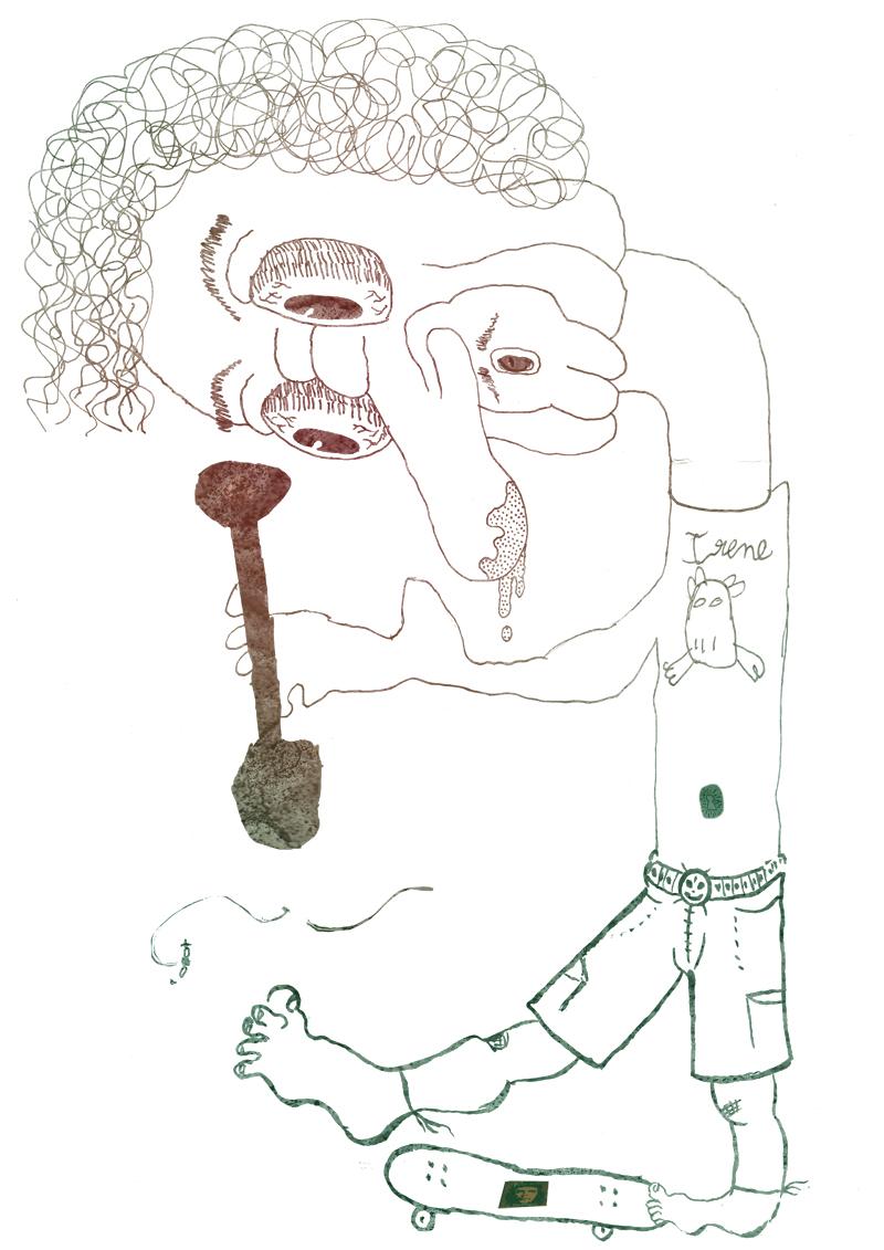 #3: Get Creative. A Cadavre exquis (Exquiste Corpse) by Marc M. Gustà, Bernat M. Bustà and Irene Alcón. 2011.