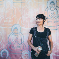 Amanda Giacomini and the 10,000 Buddhas Project. Credit: Cody App
