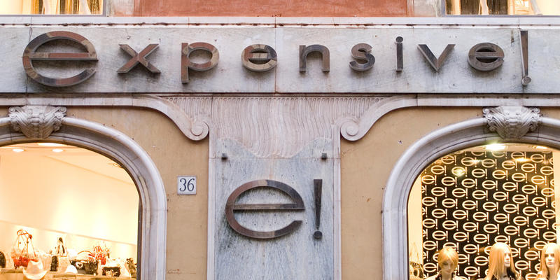 expensive! Photo: Anssi Koskinen (Flickr)