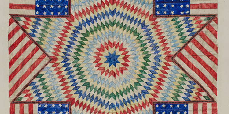Star and Flag Design Quilt, Fred Hassebrock. Source: National Gallery of Art