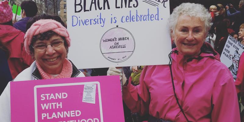 Women's March on Asheville. Credit: Ali McGhee