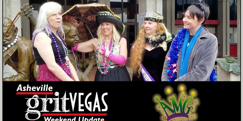 The Queen and Her Asheville Mardi Gras Entourage