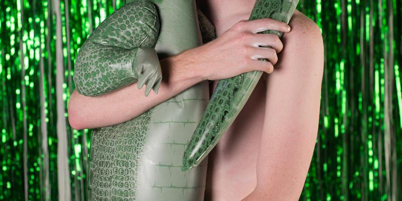 Willie Filkowski with alligator