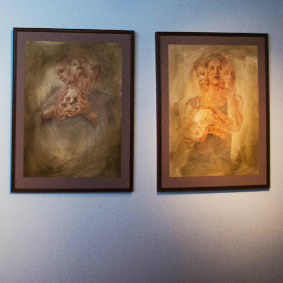 The art of Francesco Lombardo.  Photo: Erin Fowler