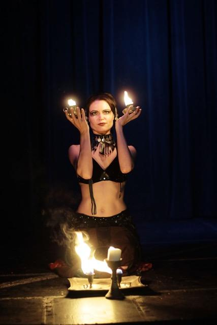 Fire performance and bellydance by Ariel Vanator, April 2017
