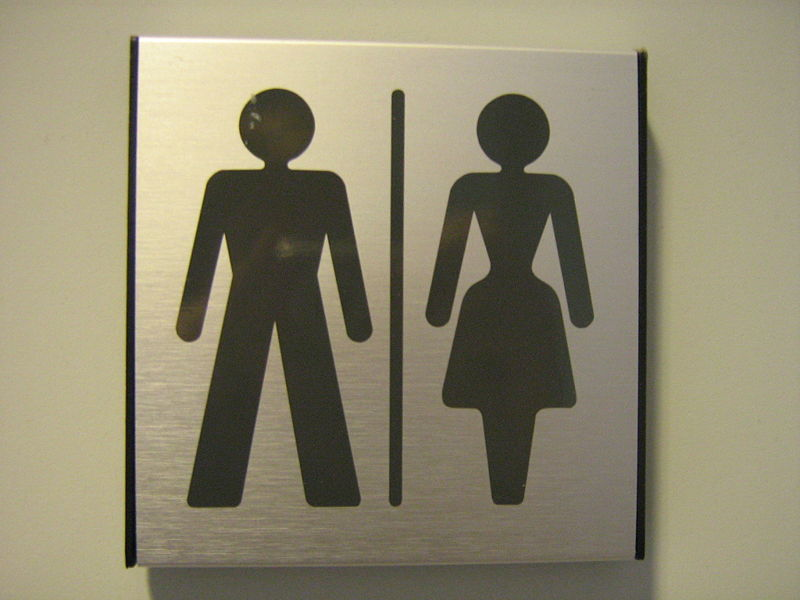 Gender Neutral Toilet Sign. Source: Wiki Commons