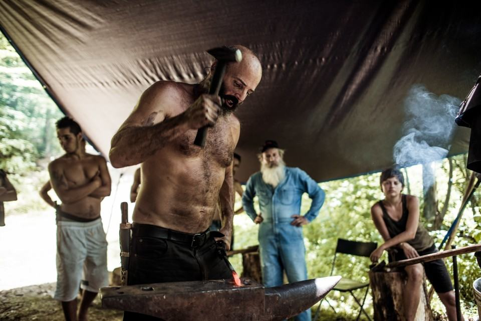 Blacksmithing with Todd at Firefly Gathering. Source: fireflygathering.org