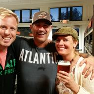 Audra with Sam Calagione and Luke Dickinson