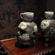 "Oppression, detail, 2013, stoneware, 25"" x 13"" x 8"""