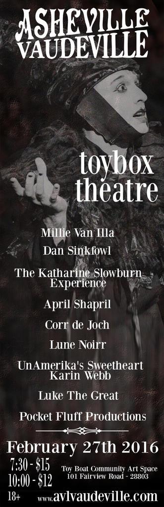 Flyer for February 27, 2016 Asheville Vaudeville
